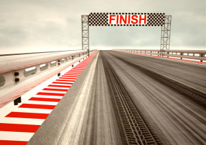 Finish race track